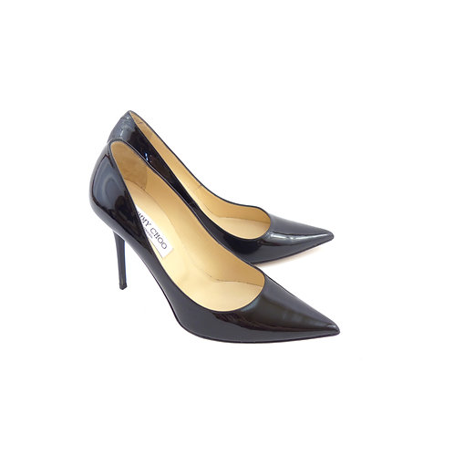 Jimmy Choo 'Abel' Black Patent Leather
