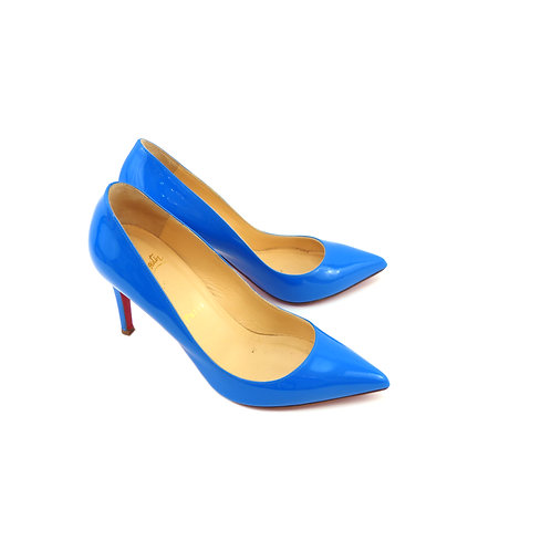 Christian Louboutin 'Pigalle 85' Blue Patent Leather
