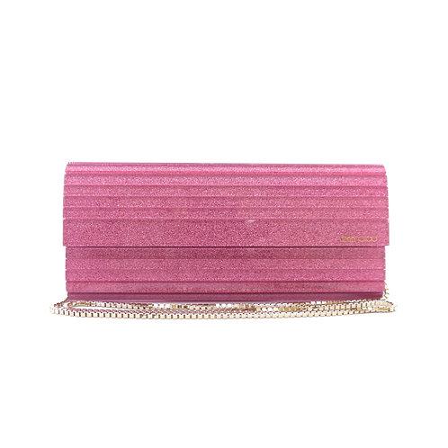 Jimmy Choo 'Sweetie' Pink Glitter Acrylic Clutch Bag