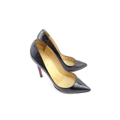 Christian Louboutin 'Pigalle 120' Black Patent Leather