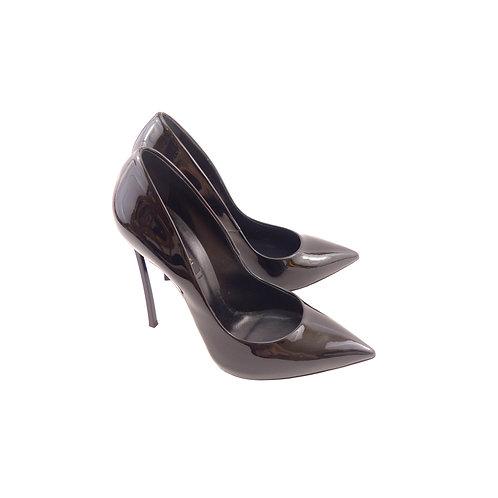 Casadei 'Blade' Black Patent Leather