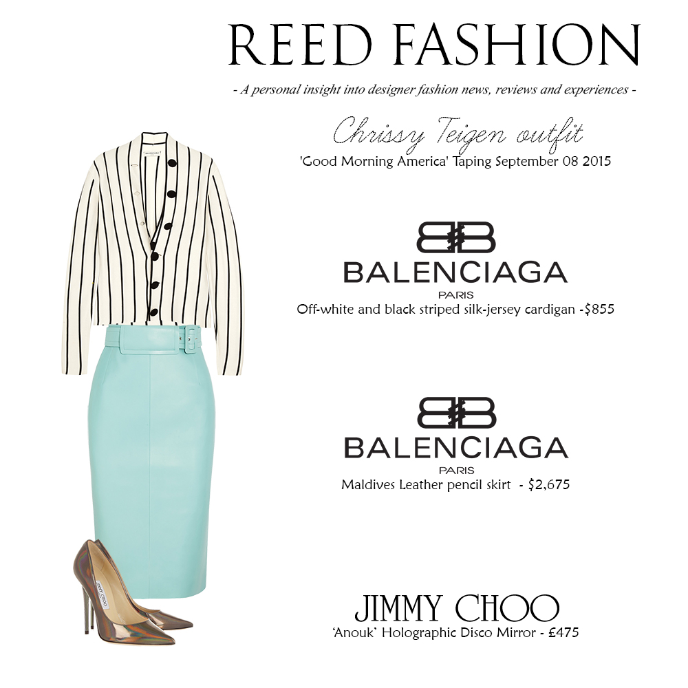 Chrissy Teigen Outfit 23-10-2016