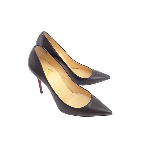 Christian Louboutin 'Decollete 554' 100 Black Nappa Shiny Leather