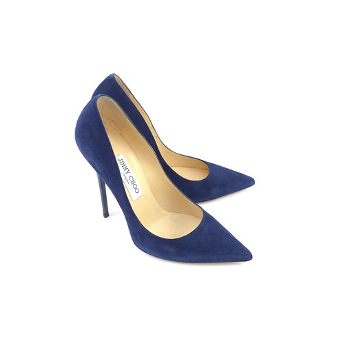 Jimmy Choo 'Anouk' Navy Suede