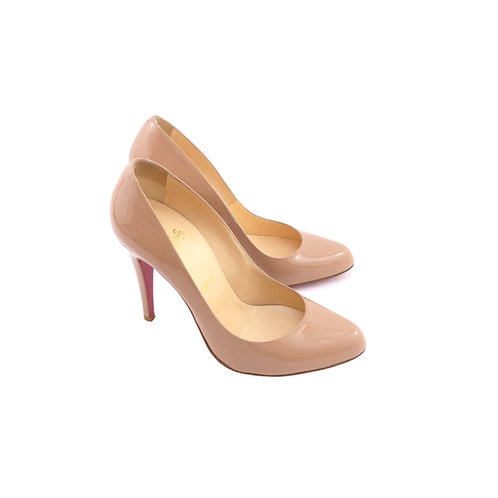 Christian Louboutin 'Decollete 868' 100 Nude Patent Leather