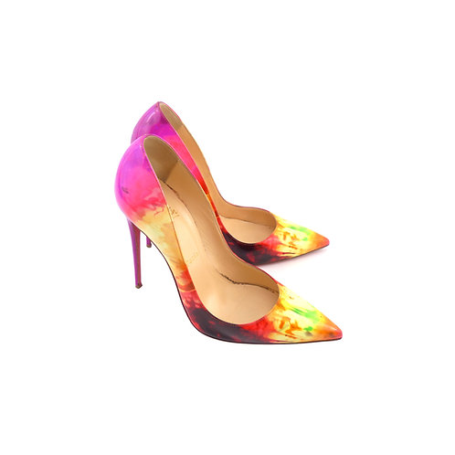 Christian Louboutin 'So Kate' Multicolour Tie and Dye Patent Leather