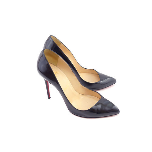 Christian Louboutin 'Corneille' 100 Black Jazz Leather