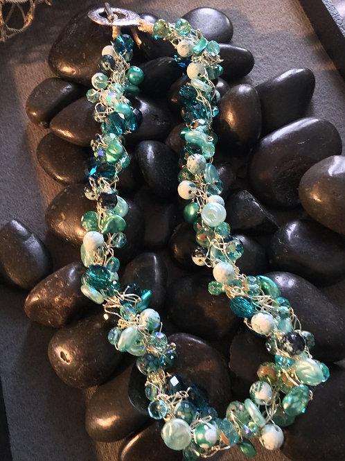 Hand Crochet Beaded Necklace