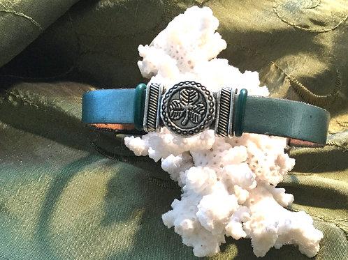 Clover Leather Band Bracelet