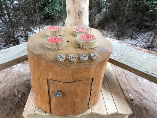 Wooden Stump Stove