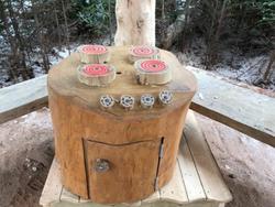 Wooden Stump Stove