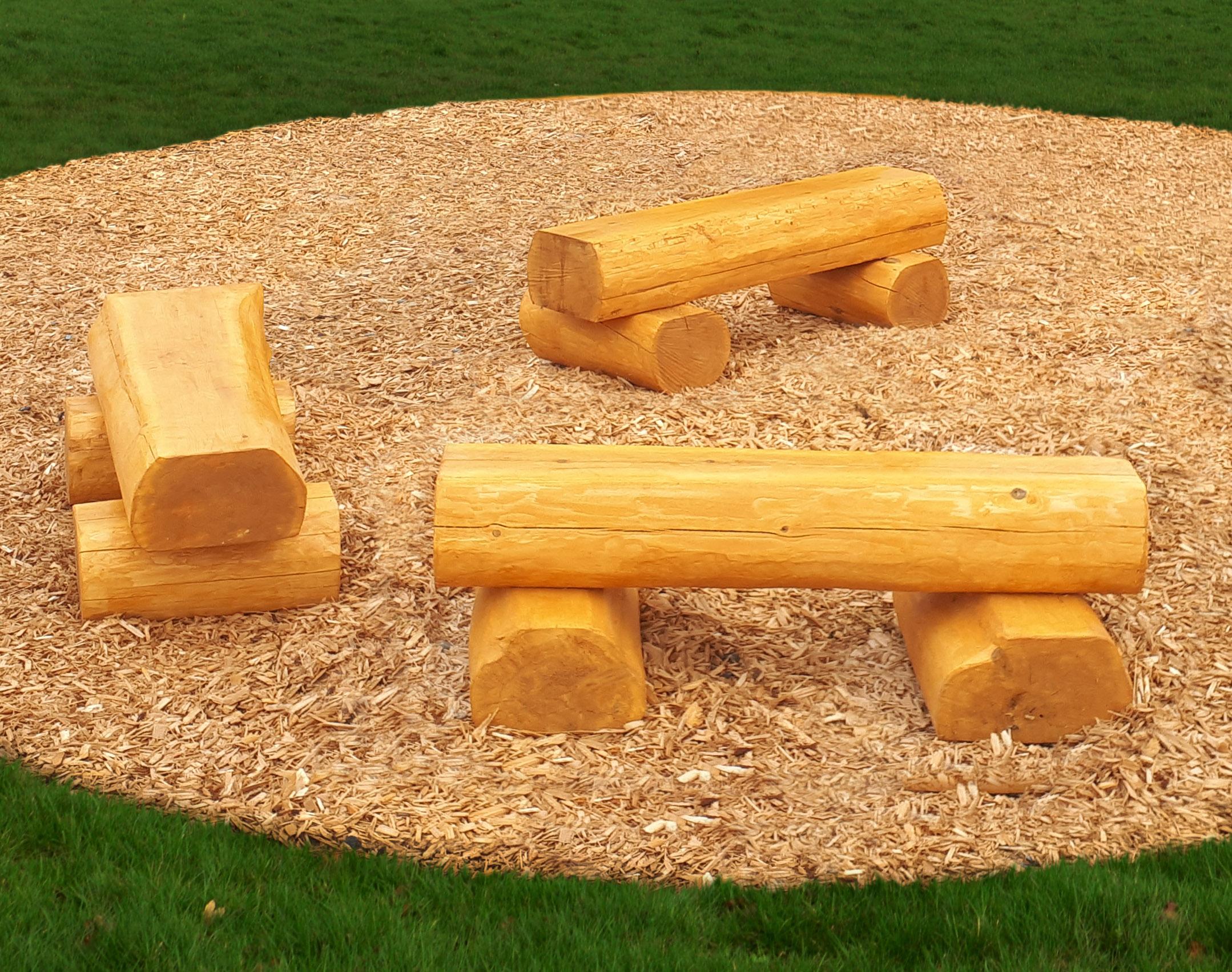 Small Log Bench Backless