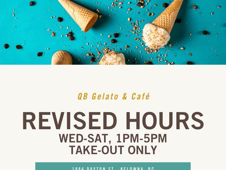REVISED HOURS - QB GELATO & CAFE