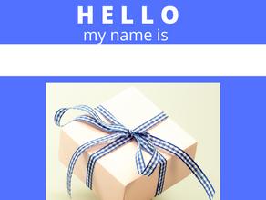 This Holiday Season, WRAP a Name