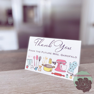 Folded Graphic Thank You Card