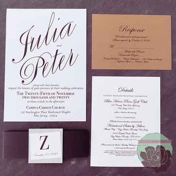 Graphic with Belly Band, Kraft paper RSVP