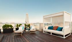 Penthouse Holon - balcony