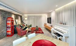 Penthouse Holon - tv area