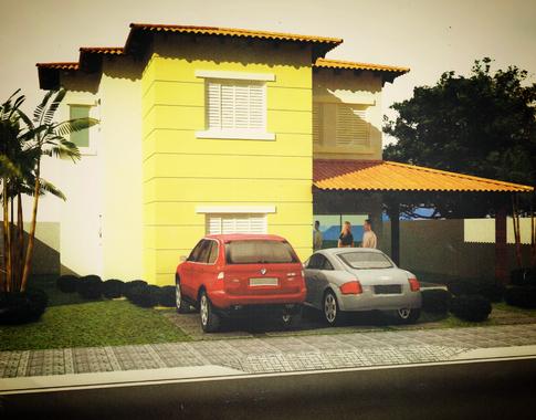 3 D house