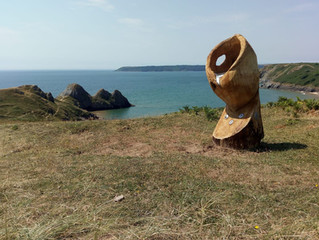 Three Cliffs bay, Sculpture now installed