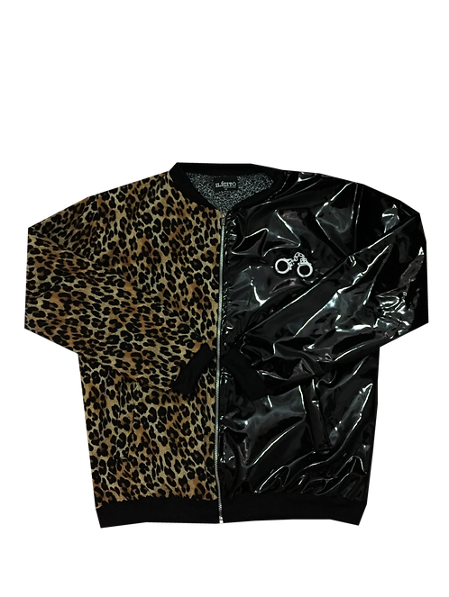 CHAQUETA BOMBER ANIMAL PRINT / LÁTEX