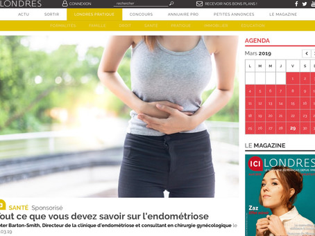 """The Endometriosis Clinic features in """"ici Londres"""" magazine"""
