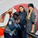 Джиджи Хадид, Ирина Шейк и Хаби Лейм сколотили банду на показе BOSS x Russell Athletic 2.0