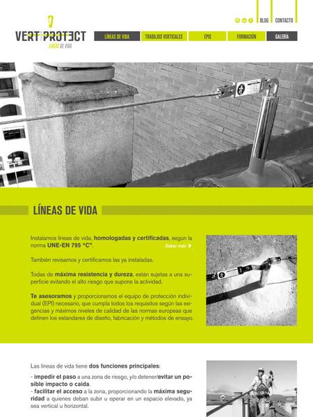 VERTIPROTECT WEB LINEAS DE VIDA
