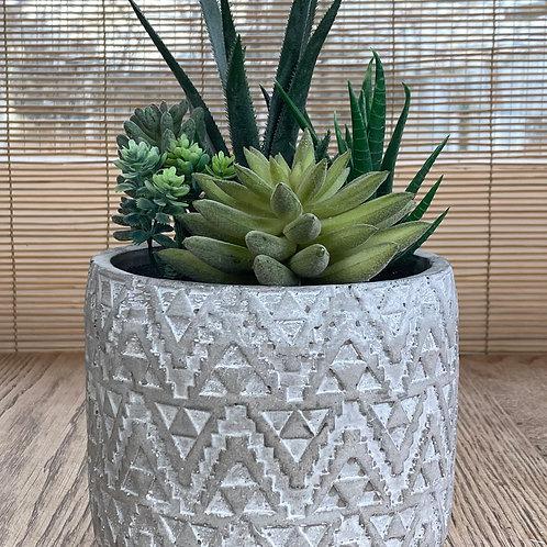 Aztec Grey Planter