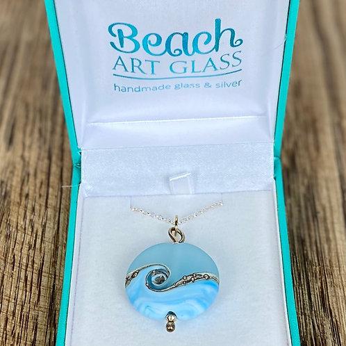 Beach Art Glass Pendants