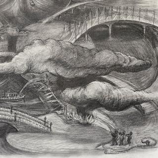 Burning Bridges, detail 4