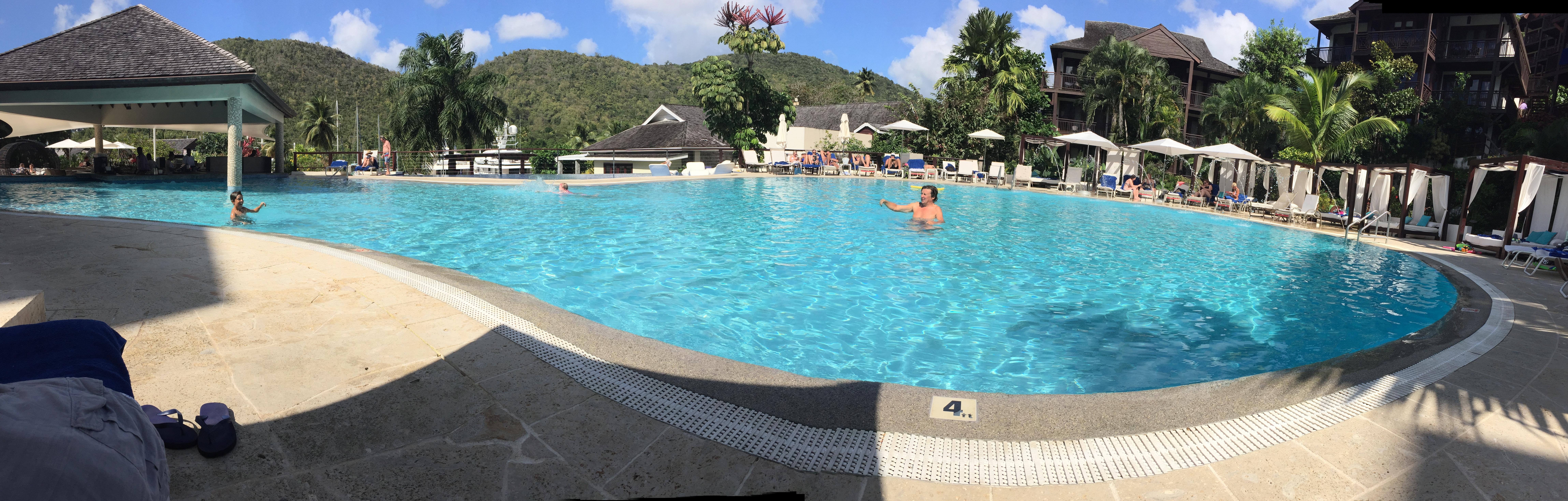 The pool at Marigot Bay