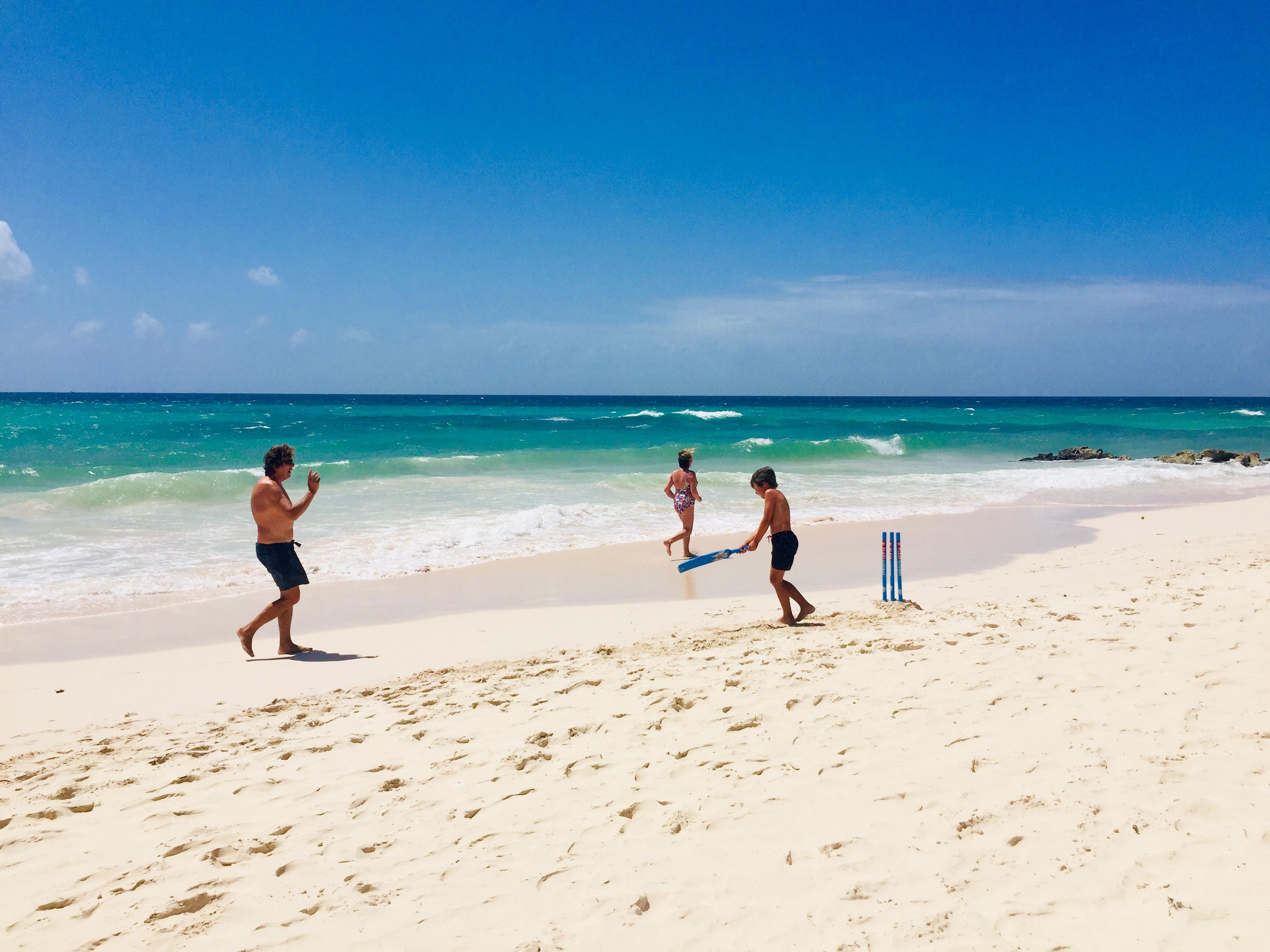 Beach Cricket Barbados Style