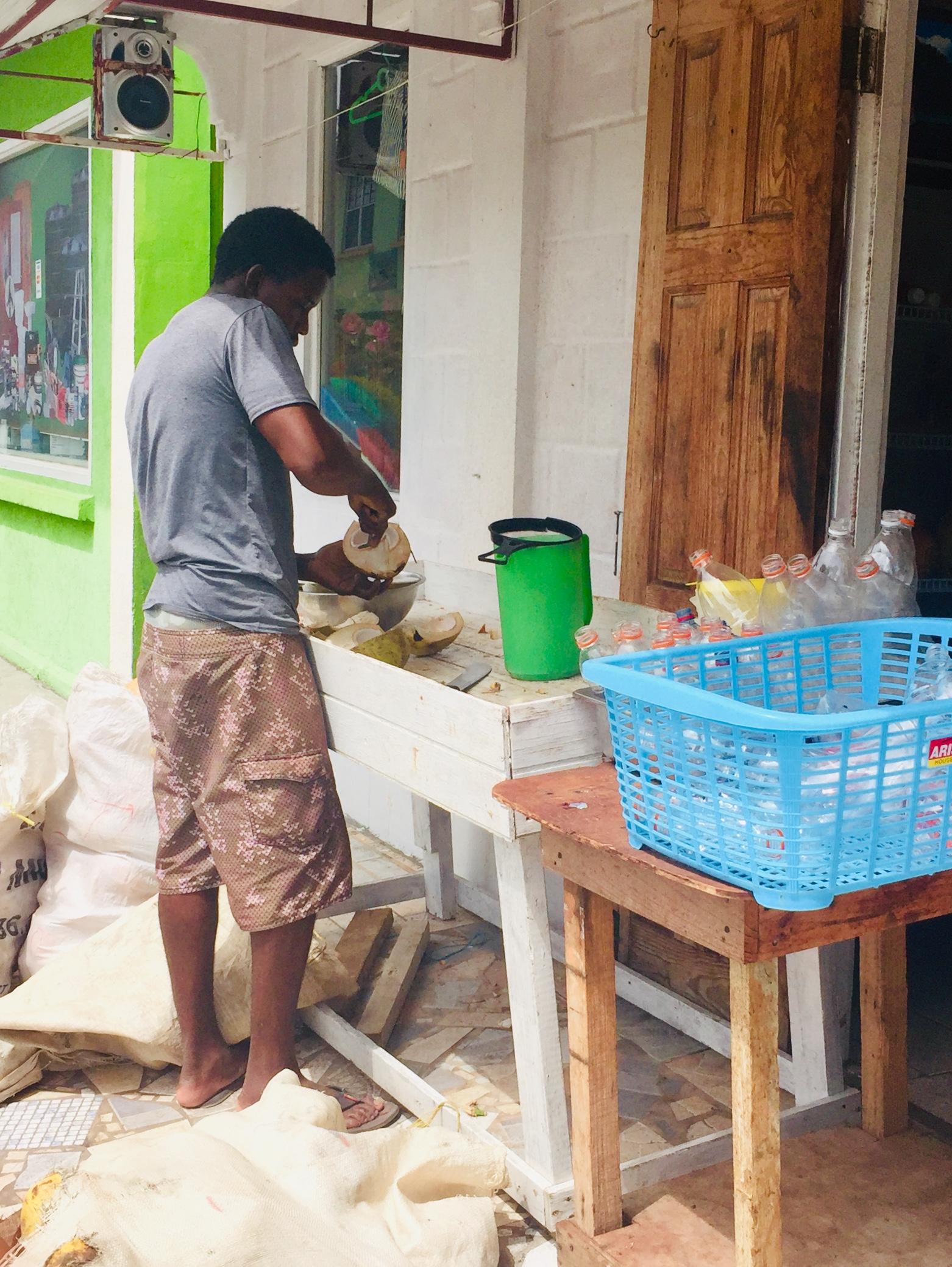 Fresh Coconut Juicing