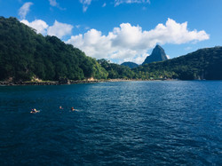 Anse Chastenet and the Pitons