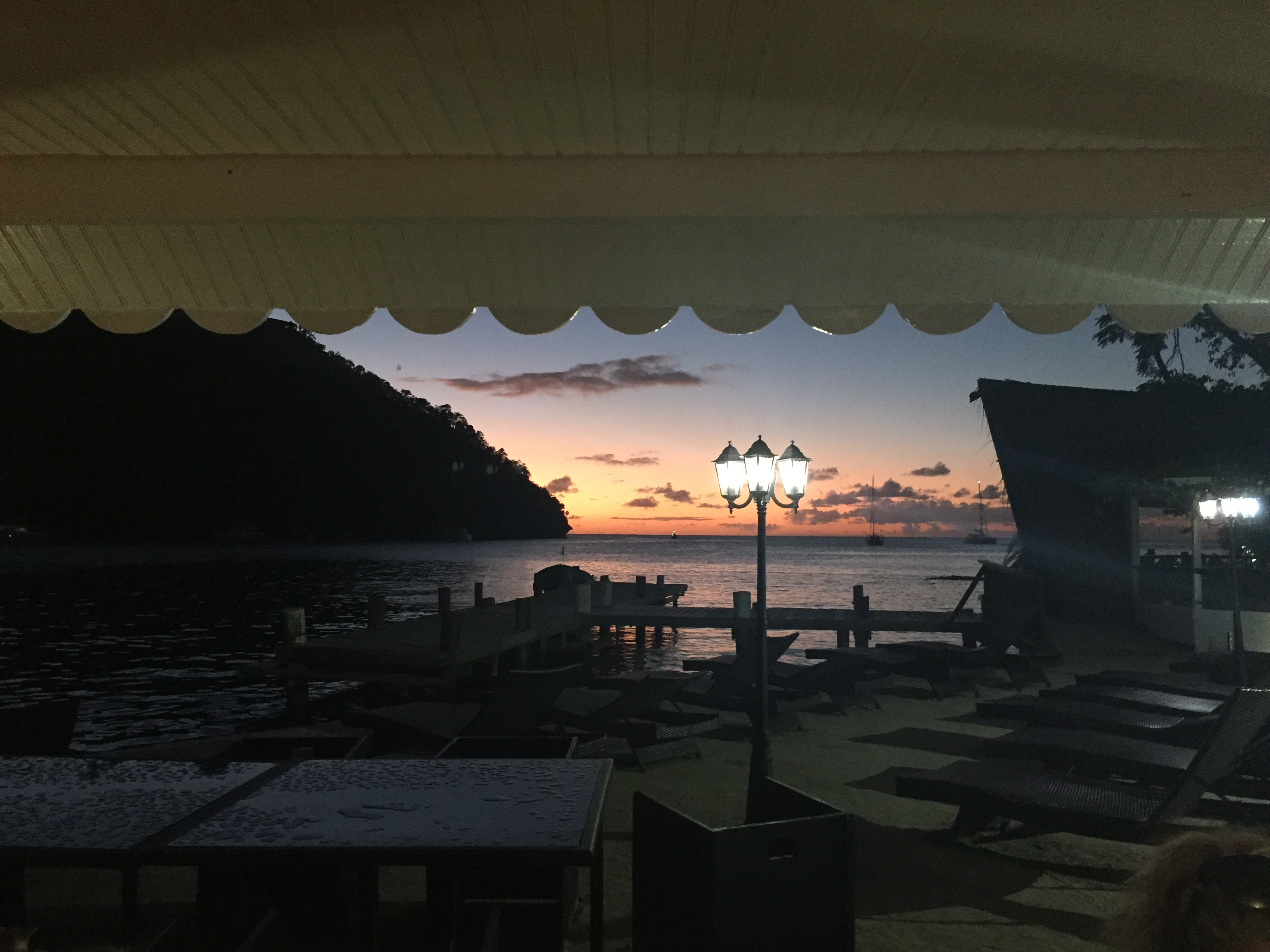 Sunset from Marigot Bay
