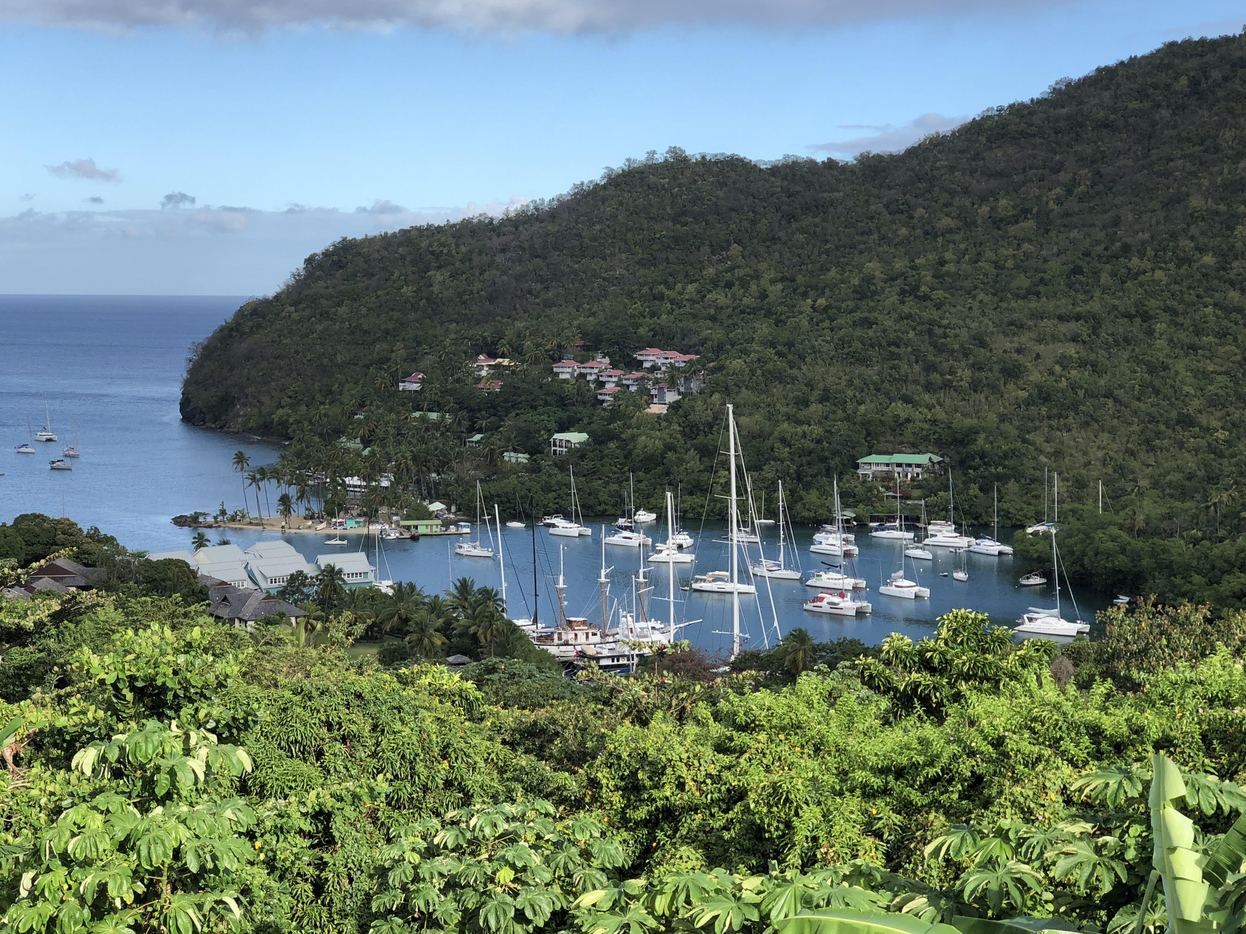 Marigot Bay - a pretty anchorage