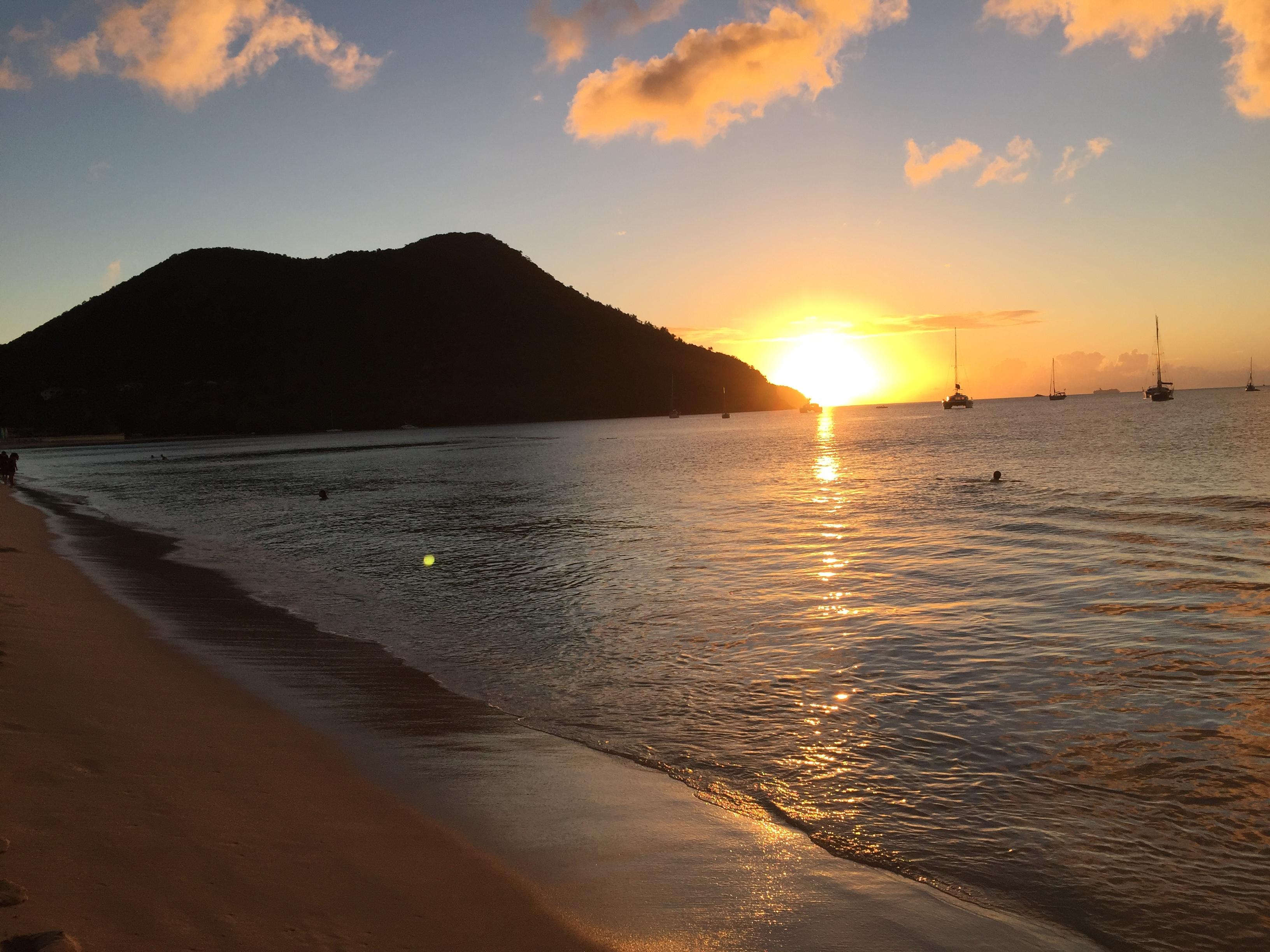 Sunset from Rodney Bay
