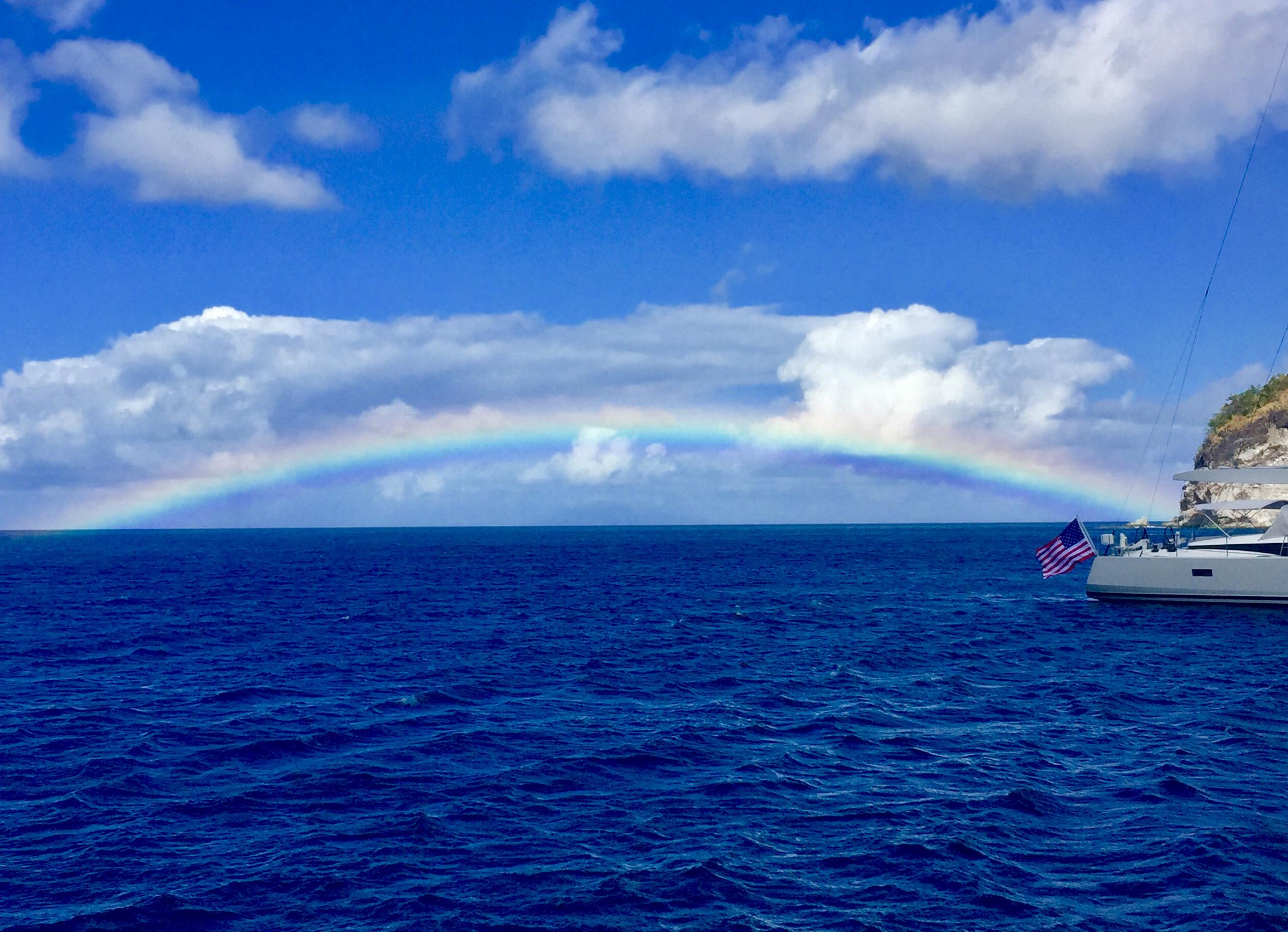 Caribbean Rainbow on Christmas Morning