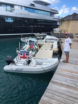 Atlantic Rowers Landfall in Port St Char