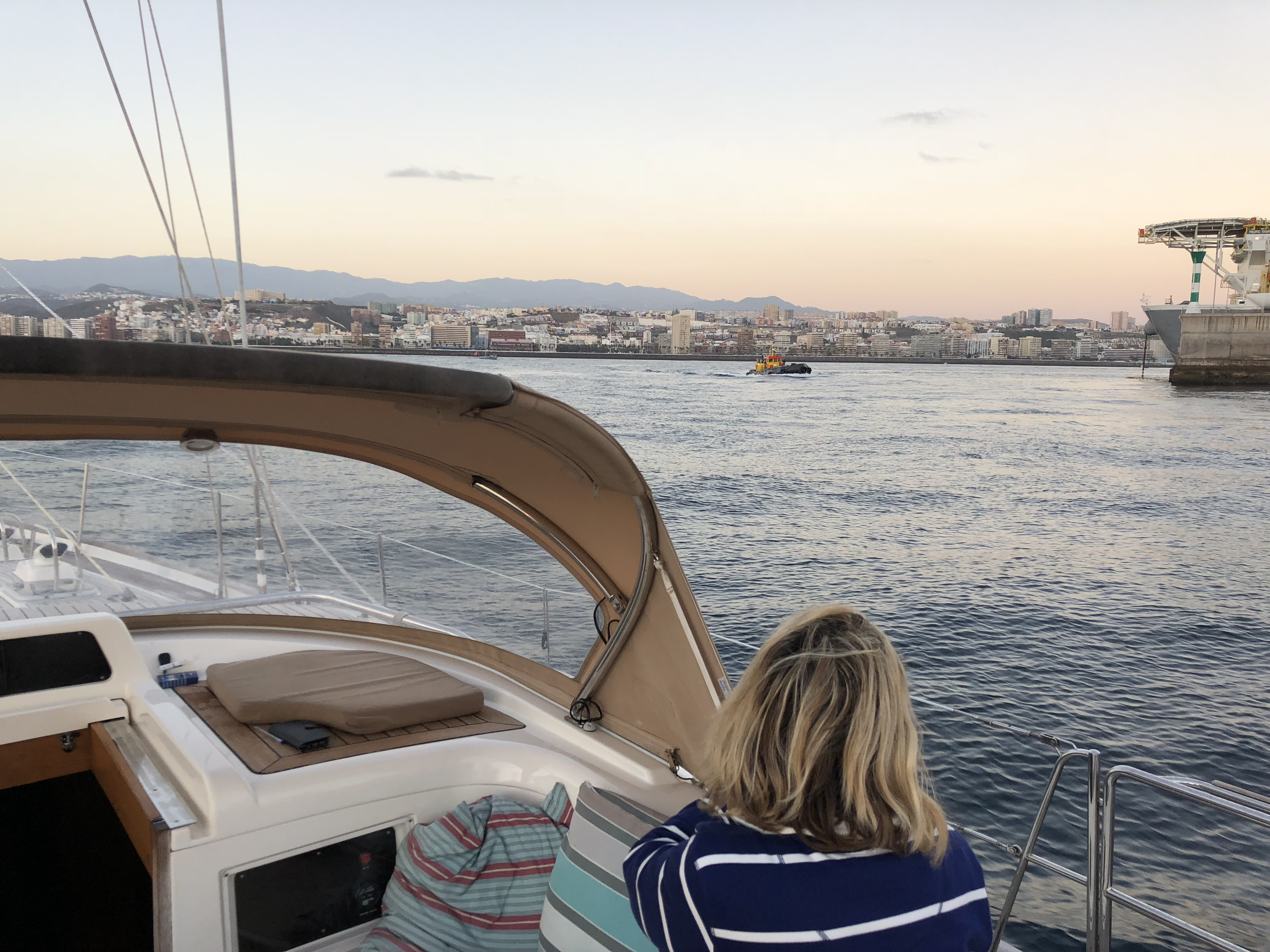 Entering the Marina Las Palmas