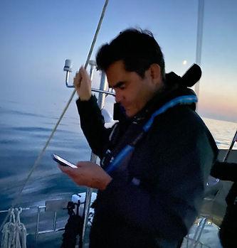 Brad Checks the ISS Orbit Time.JPG