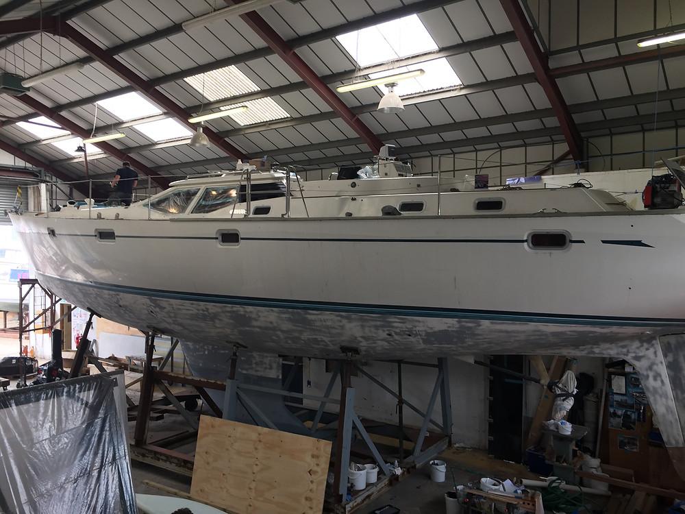Moana is in the workshop in Ipswich