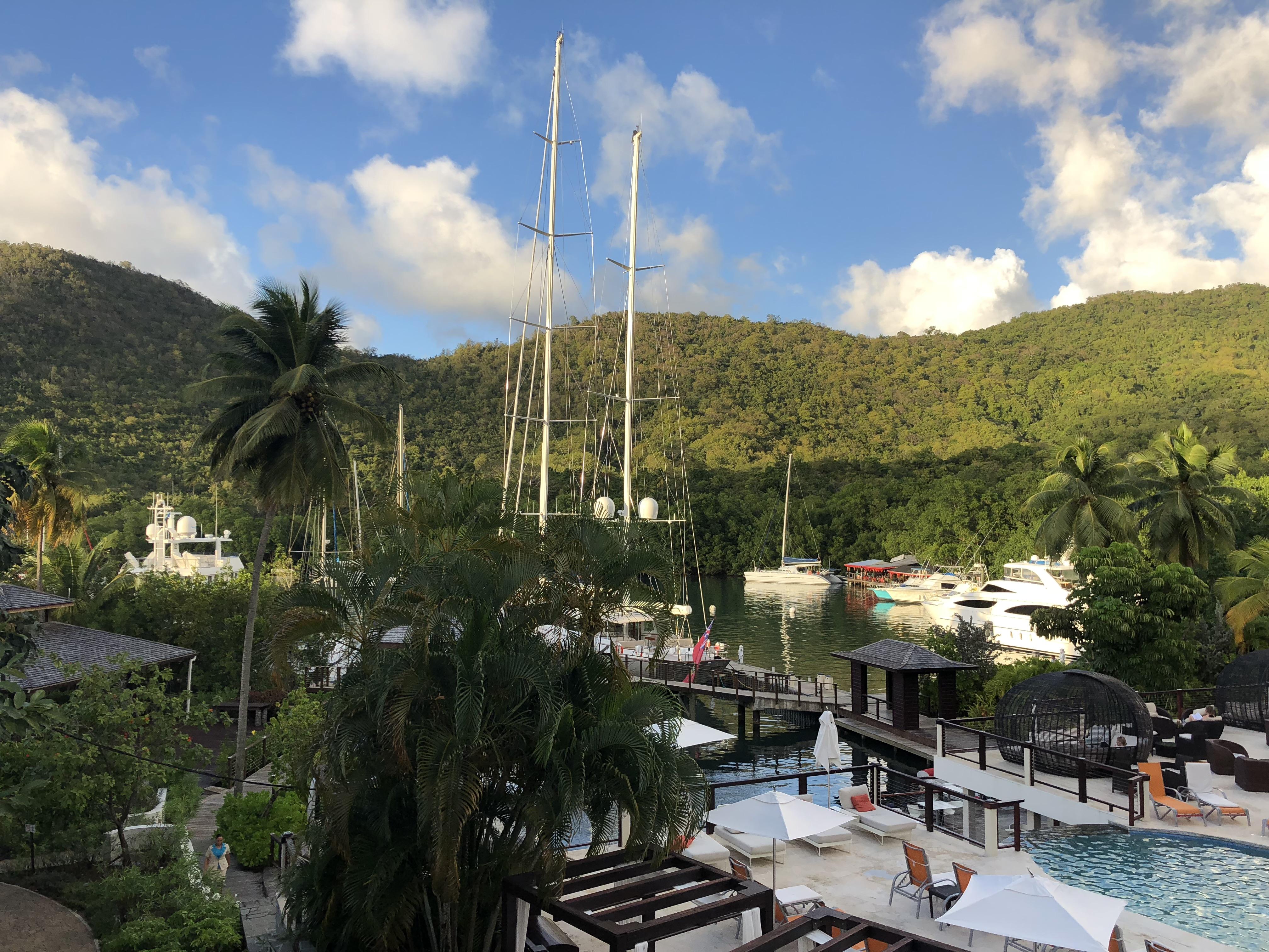 Marigot Bay View from the Marina Pool