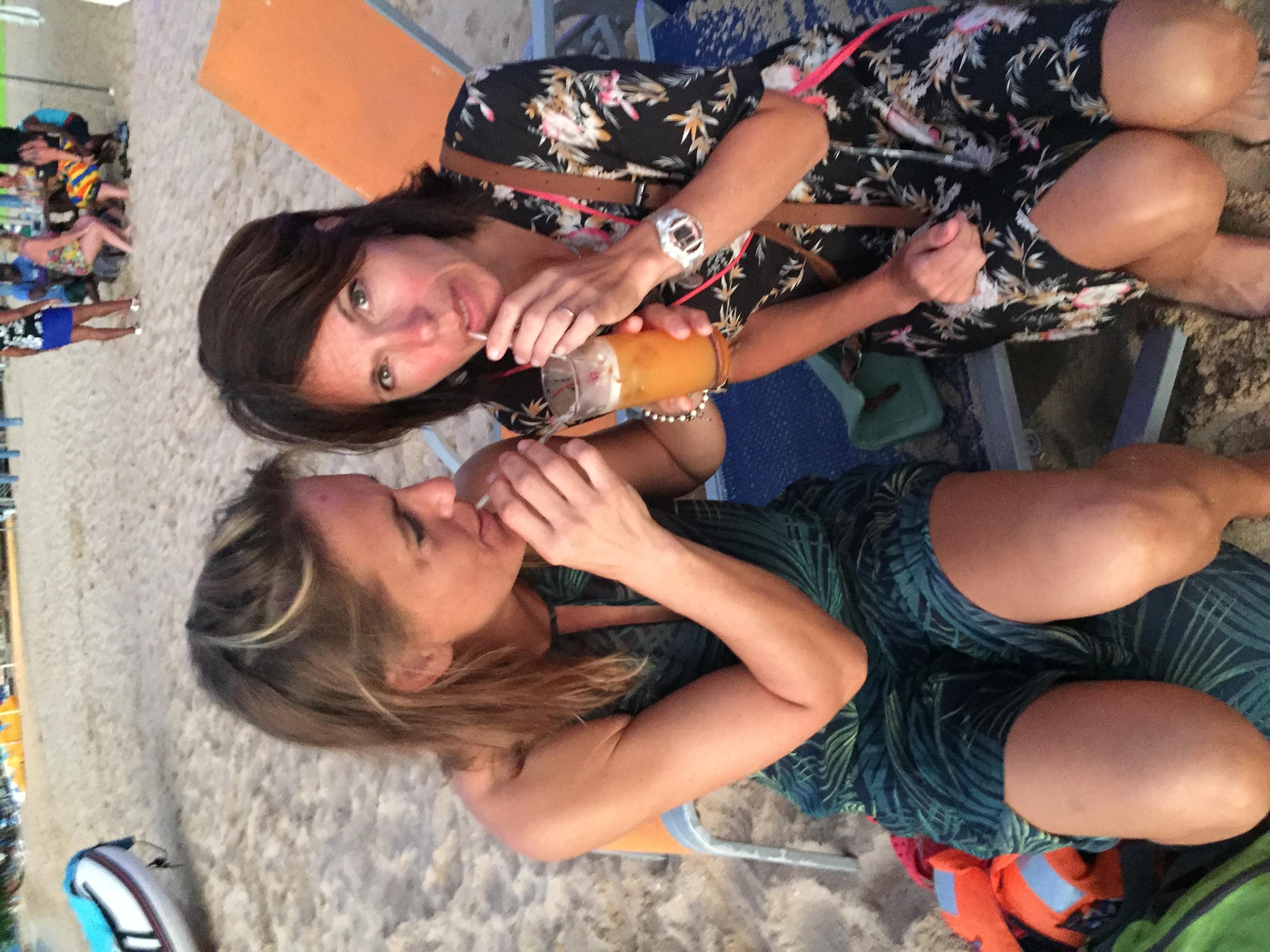 Jo & Michelle on the Sundowners