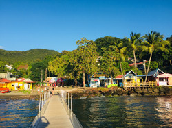 The Boat Pontoon and dive shops at Pte M