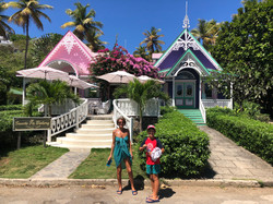 The Purple and Pink Houses - Mustique