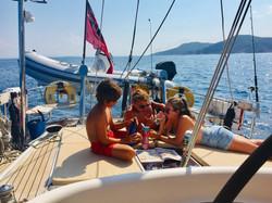 Hard work this sailing lark!