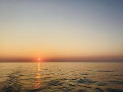 Sunset off N Devon