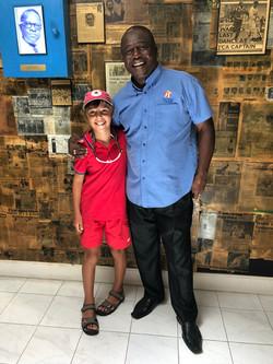 Desmond Haynes with Freddie at CLB